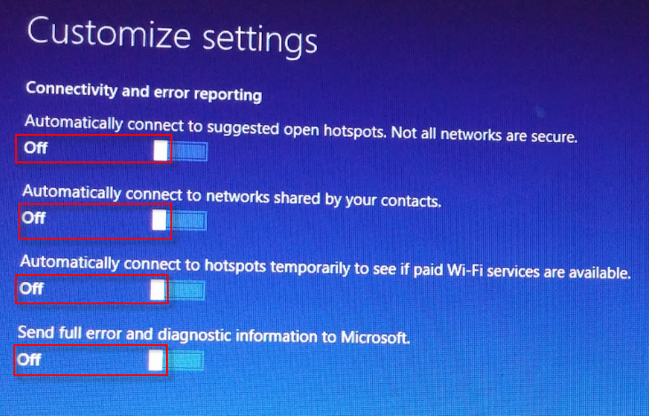 w10-3 customize settings connectivity
