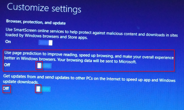 w10-4 customize settings