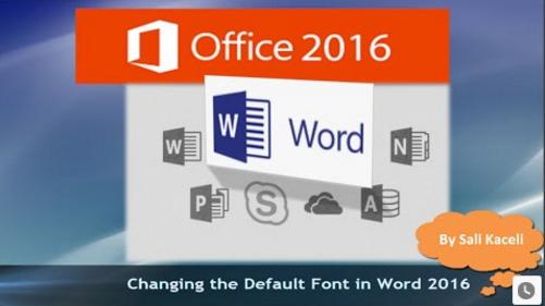 change default font on word 2016